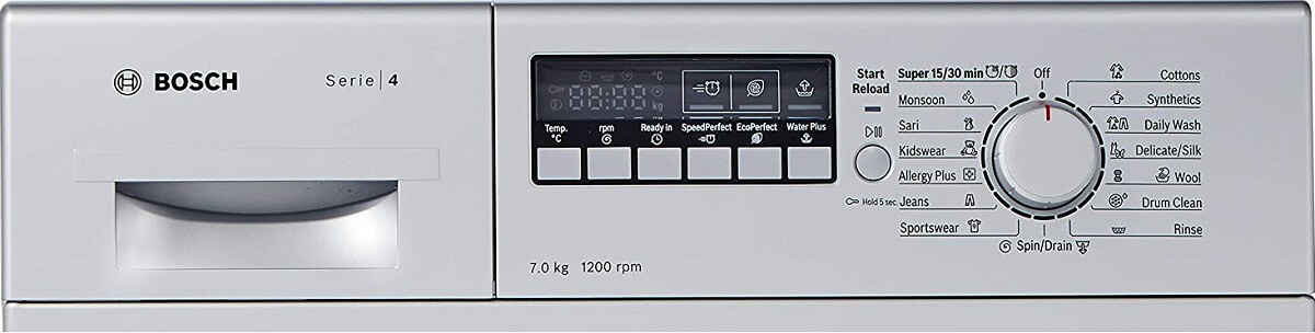Bosch 7 Kgs Model No WAK24268IN control panel