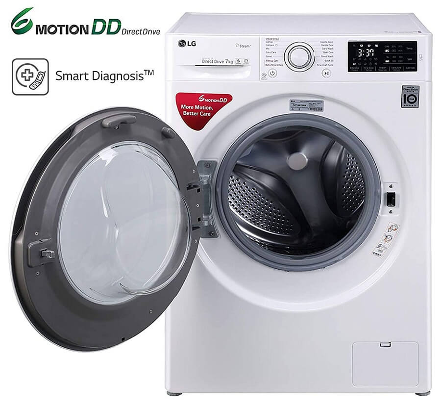 LG FHT1007SNW Washing Machine 7 Kgs Fully Automatic Front Load Open
